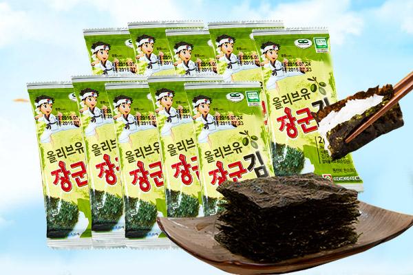 韩国进口乐熙橄榄油海苔高DHA 宝宝零食儿童食品孕妇进口零食休闲食品2g*10